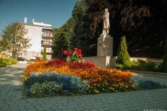 przy pomniku Kościuszki